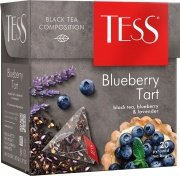 черный чай TESS Blueberry 20 пакетиков
